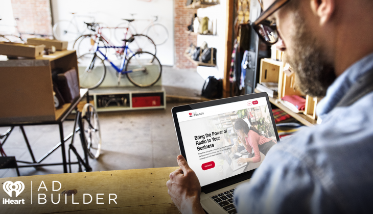 Bike shop owner buying a radio ad using iHeart AdBuilder